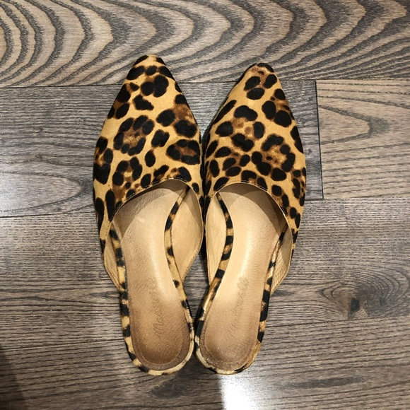 Madewell Remi Mule In Leopard Calf Hair